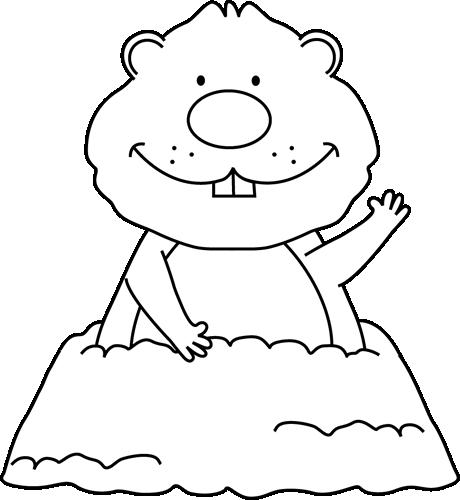 Black and White Groundhog