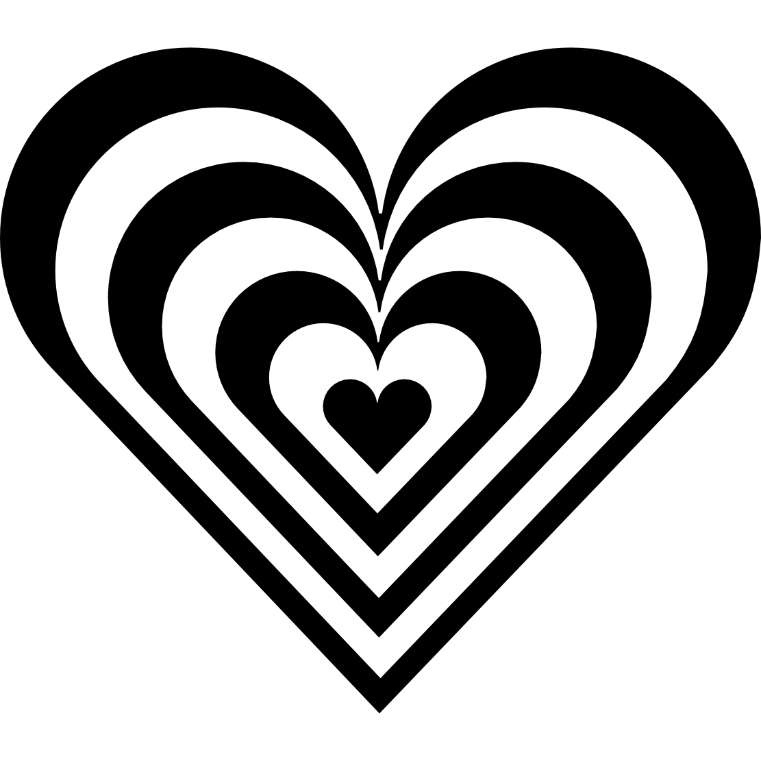... Black And White Hearts Clip Art ...