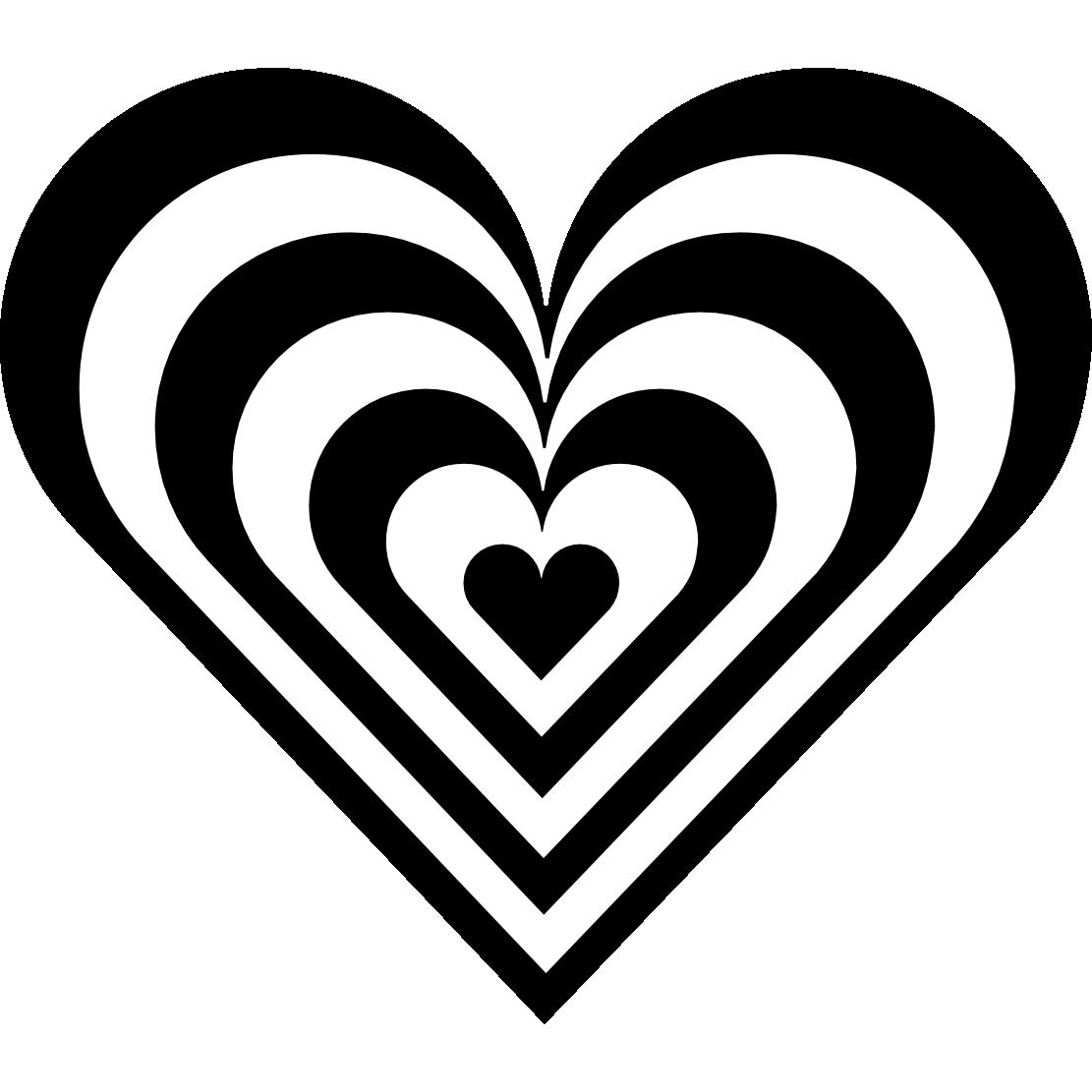 Black And White Hearts Clip Art ..