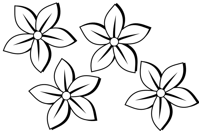 Black And White Pencil Border Clipart Flowers Clip Art Black And White