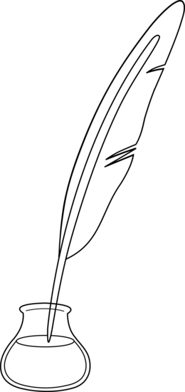 Black and White Quill Pen