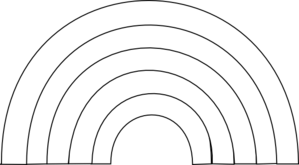 Black And White Rainbow Md Png