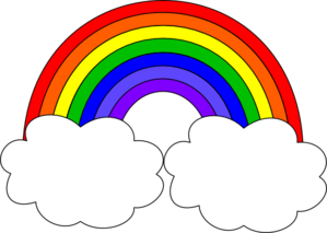 Black and white rainbow outline free clipart images 2