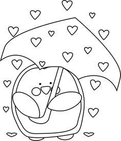 Black and White Raining Valentineu0026#39;s Day Hearts clip art image. This