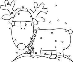 Black and White Reindeer in .