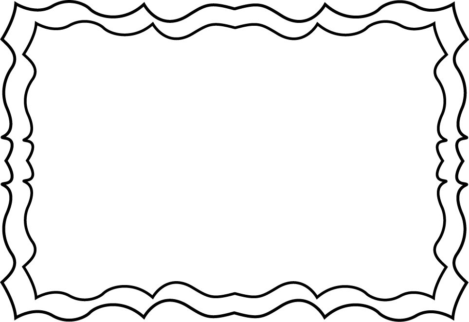 Black And White Squiggly Frame .