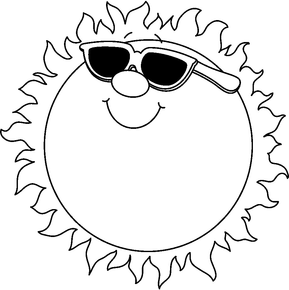 Black And White Sun Clipart Bmp