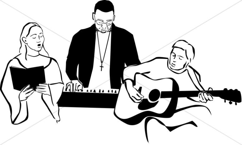 Black and White Worship Band