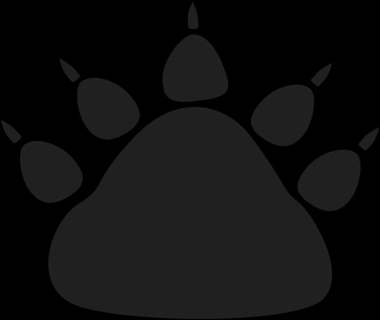 Black Bear Paw Print Clip Art Black Bear Paw Print Image
