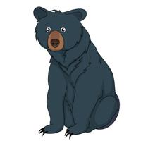 black bear sitting clipart clipart. Size: 76 Kb