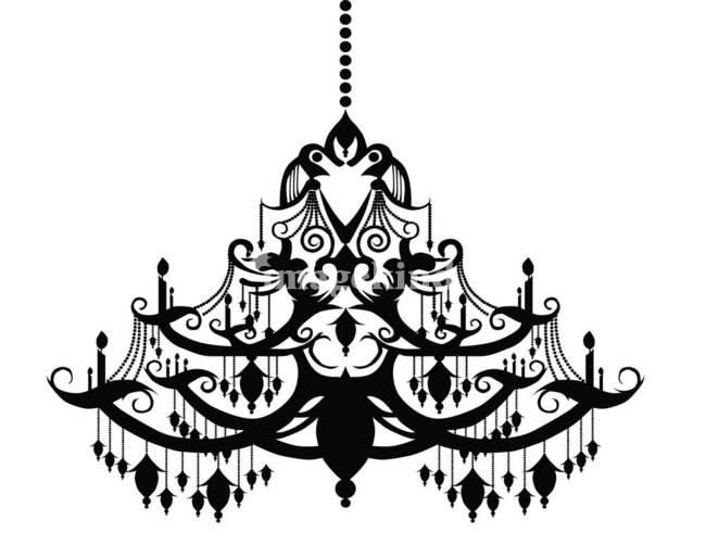 black chandelier by Lisa .