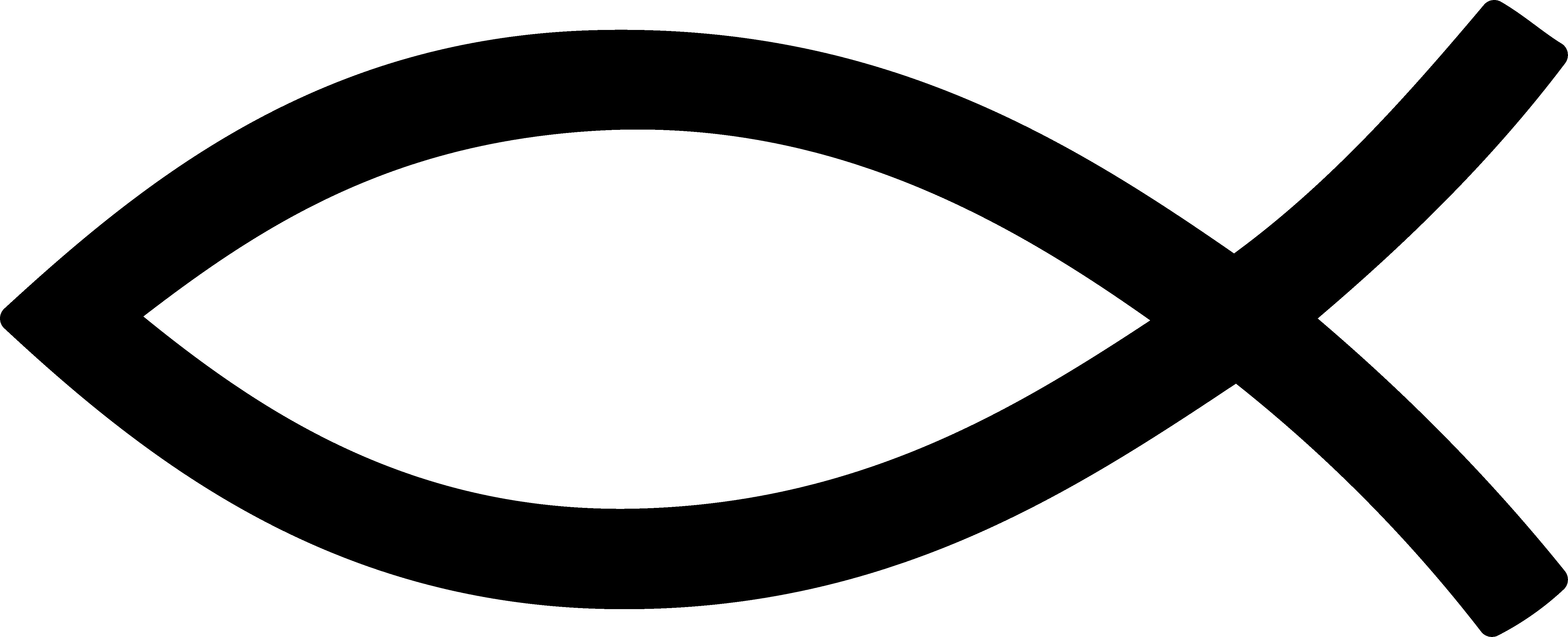Black Christian Fish Symbol