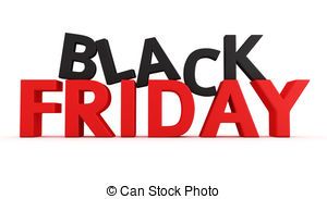 . ClipartLook.com Black Friday - 3D label Black Friday on the white background
