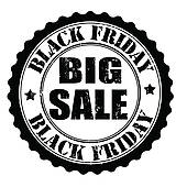 Black Friday Sale; Black friday big sale stamp
