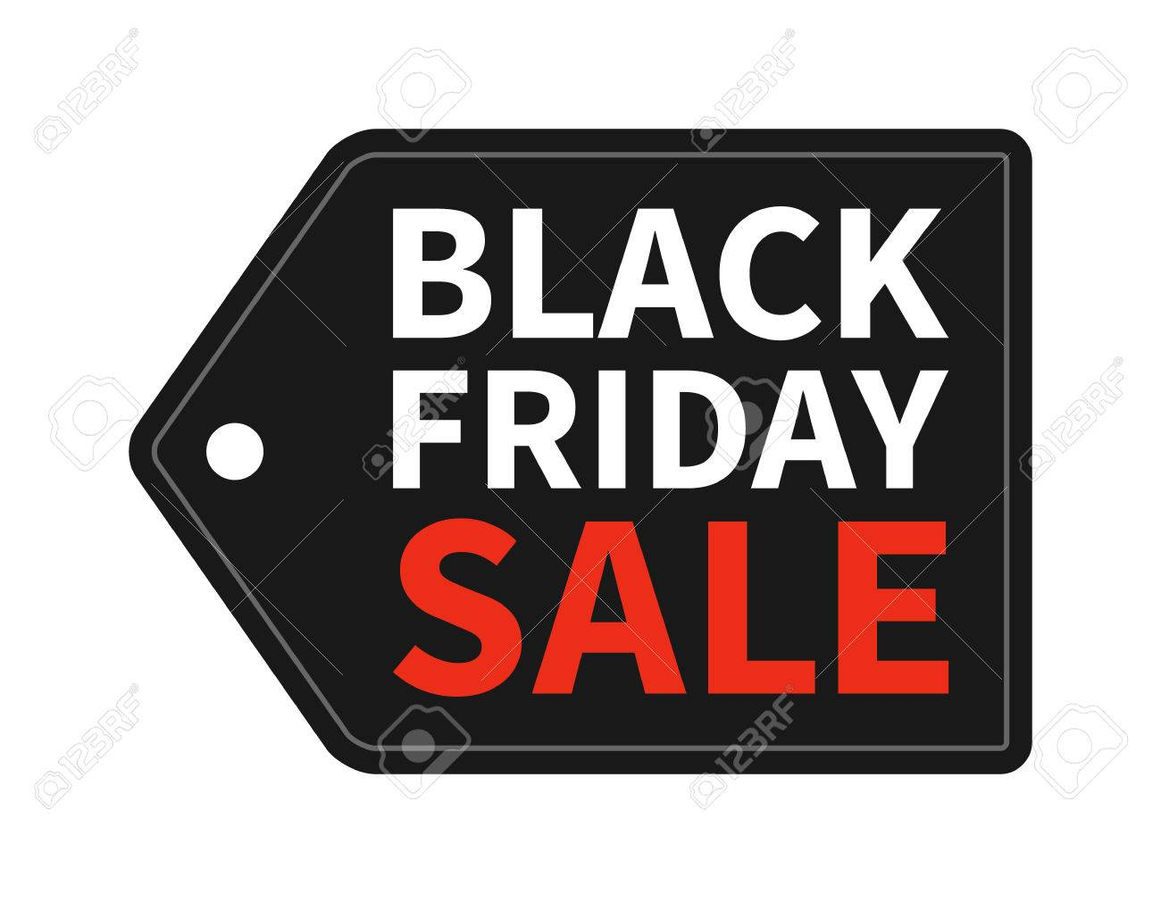 Black Friday Sale hang tag promotion Stock Vector - 43923146
