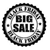 Black Friday sale poster; Black friday big sale stamp