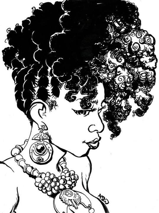 Black Girl Natural Hair Cartoons | Naturally Beautiful Hair Blog