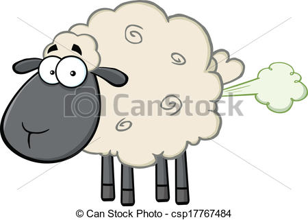 ... Black Head Sheep With Fart Cloud - Cute Black Head Sheep.