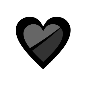 Black heart heart clipart black and white heart clip art at vector