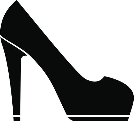 Black high heels clipart - .