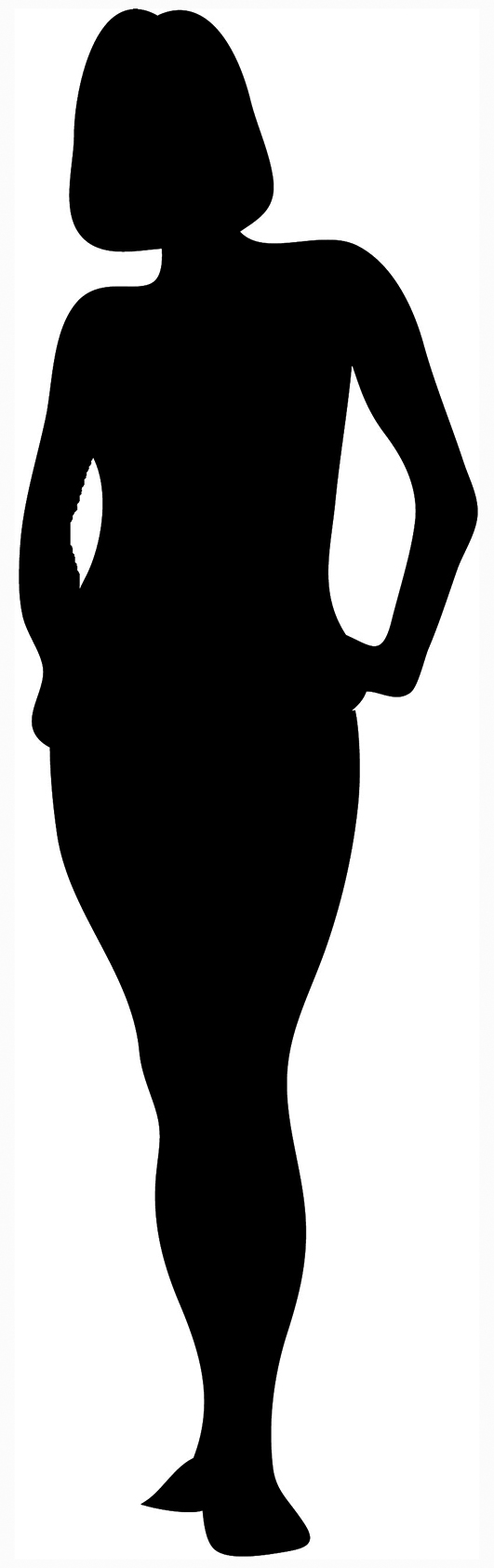 black silhouette of woman standing ...