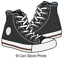 ... Black sneakers - Hand drawing of classic black sneakers