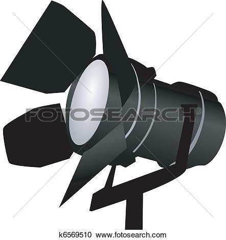 black spotlight