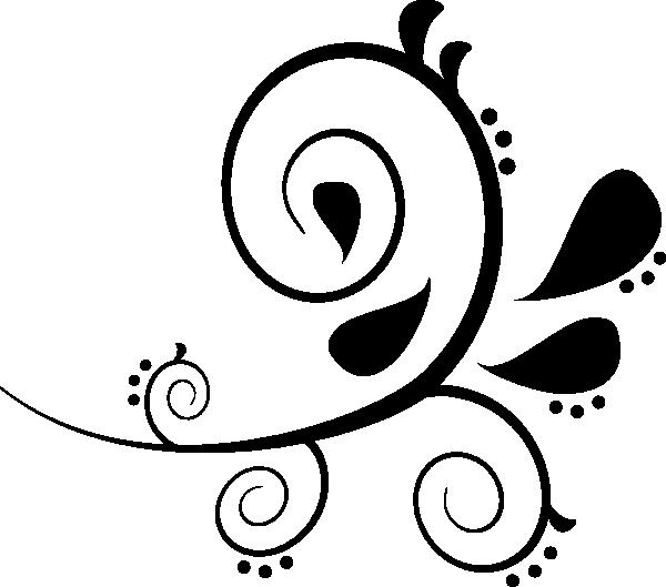 Black Swirl Clip Art At Clker Com Vector Clip Art Online Royalty