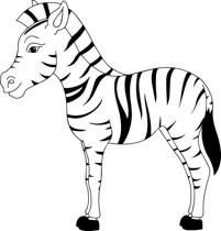 black white zebra clipart