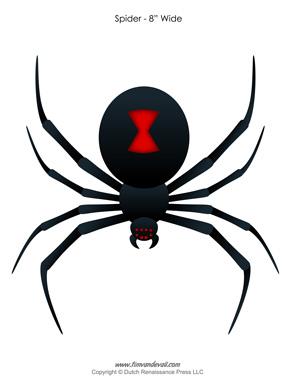 Black Widow clipart halloween spider #1