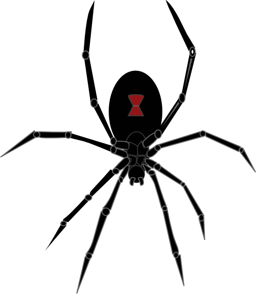 Black Widow Clipart this image as: