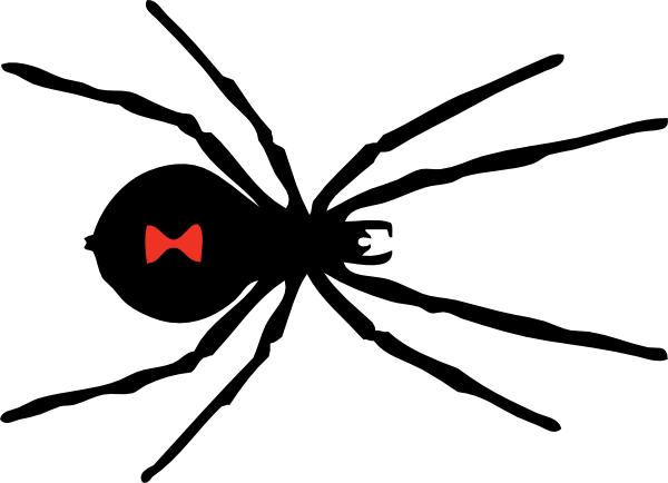 . hdclipartall.com free vector Black Widow Spider clip art