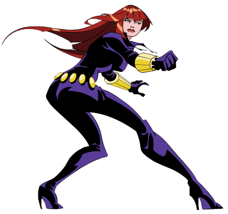Marvels Black Widow Clipart #1