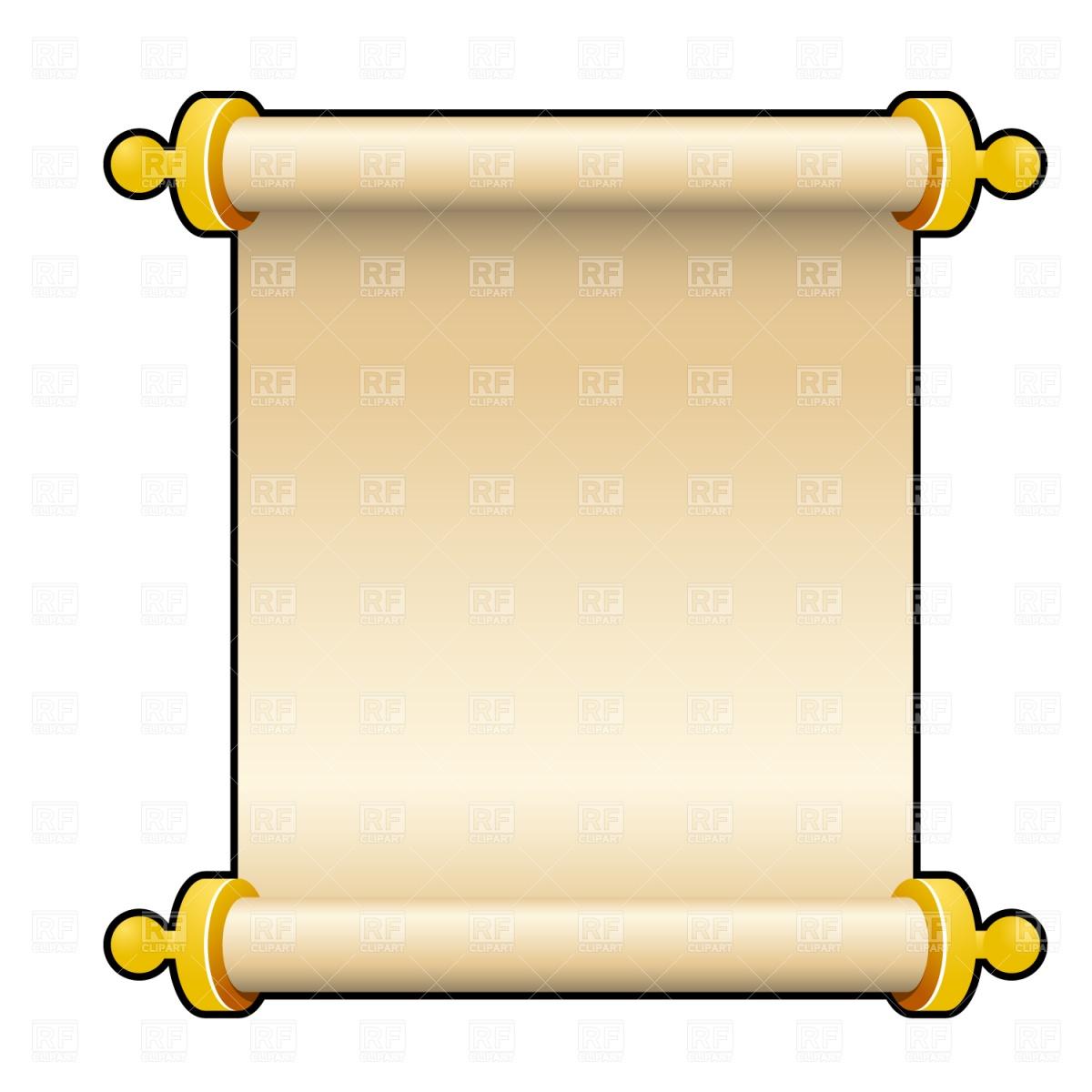 blank scroll clip art