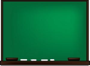 Blank chalkboard clipart