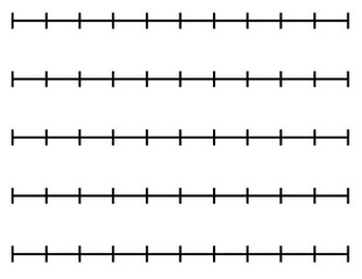 BLANK NUMBER LINE FOR ANY .