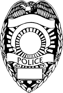 ... blank police badge clip art ...