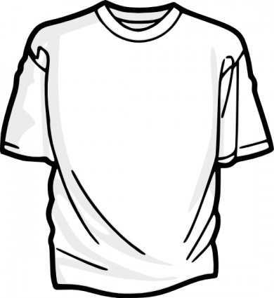 Blank T Shirt clip art Free vector in Open office drawing svg