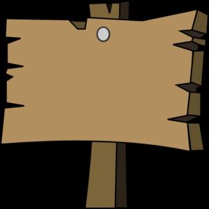 Blank Wood Sign Clip Art