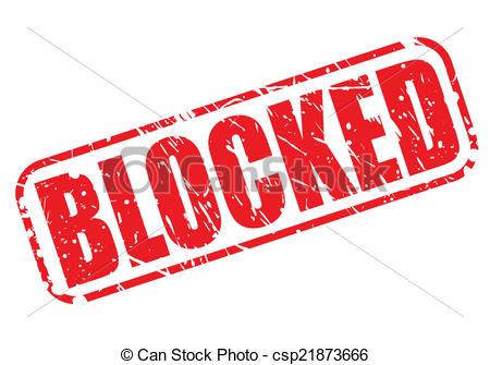 Blocked red stamp text - csp21873666