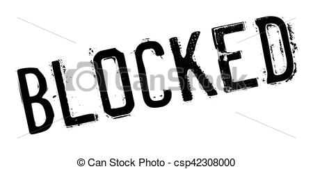 Blocked rubber stamp - csp42308000