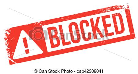 Blocked rubber stamp - csp42308041