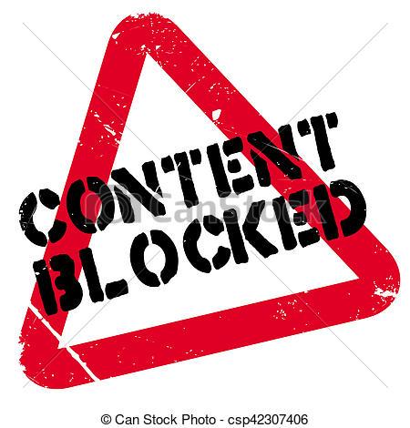 Content blocked rubber stamp - csp42307406
