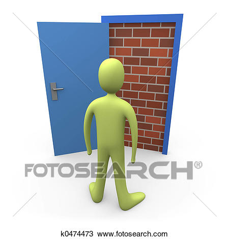 Drawing - Blocked Door #1. Fotosearch - Search Clipart, Illustration, Fine  Art