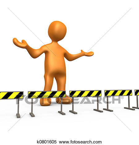 Stock Illustration - Blocked. Fotosearch - Search Clipart, Drawings,  Decorative Prints, Illustrations