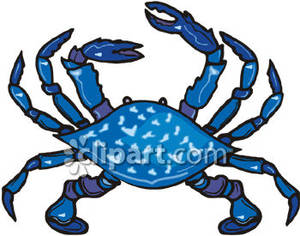 blue crab clipart black and white