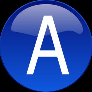 Blue A Clip Art