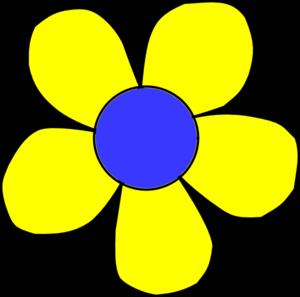 Blue And Yellow Flower Clip Art At Clker Com Vector Clip Art Online