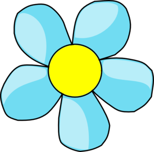 Blue And Yellow Flower Clipart .