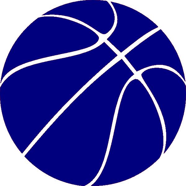 Blue Basketball clip art - vector clip art online, royalty free